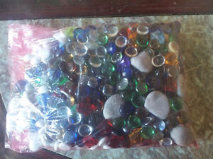 Large pack of assorted decorative marbles stones London Ontario image 2
