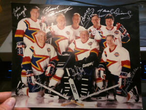 Unique Rare Signed 93-94 Zellers Hockey Hall of fame lithograph