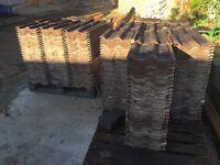Double Roman concrete roof tiles