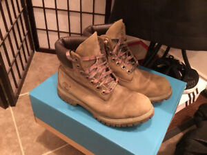 Camp Themed Timberland Boots