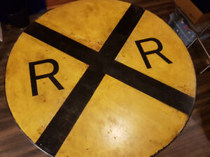 Railroad Sign Nook or Coffee Table - Rustic, Vintage, & Quirky