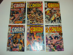6 'Conan the Barbarian' Comics for $25 (63,64,66,67,68,70)