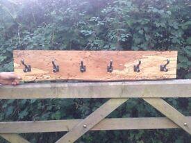 Spalted Beech Coat Hooks shabby rustic