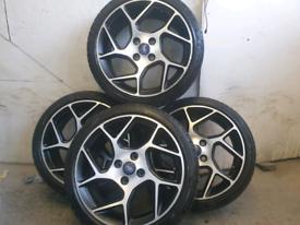 "17"" GENUINE Ford Fiesta ST MK8 alloy wheels fit courier vans"