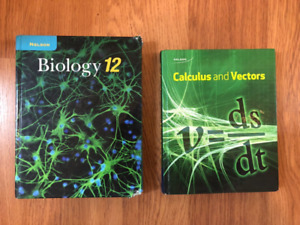 Grade 12 Textbooks (Biology, Calculus and Vectors)