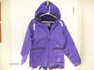 Girls Winter Jacket with Hood, Size 14
