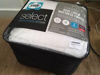 Sealy Select Balance Dual Layer Mattress Topper, White, Double (BRAND NEW)