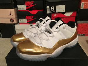 "Air Jordan 11 XI Retro Low ""Metallic Gold"" basketball sz 9 US"