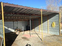 Three sided heavy gauge double carport - Must be moved - $800