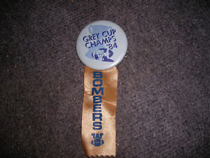 1984 Blue Bombers Grey Cup Pin With Ribbon