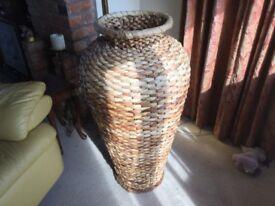 Large wicker urn.