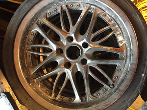 """Two singles rims 18"""" with tires FALKEN 235/40/18"""