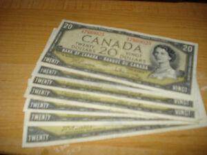 7 Pieces 1954 $20