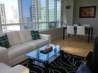 September: Spacious 2 Bed Furnished Downtown @ Maple leaf square