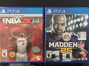 PS 4 Games $10.00 each