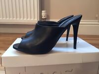 Brand new ladies Topshop mules high heels Size 6