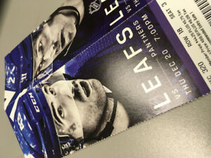 Toronto Maple Leafs vs Panthers this Thursday, 85 each