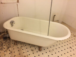 Antique claw foot tub - circa 1910
