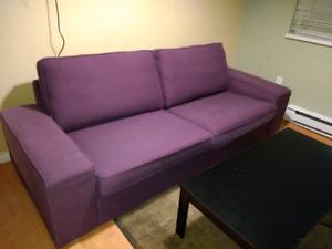 Ikea Kivik Sofa, coffee table, and dresser