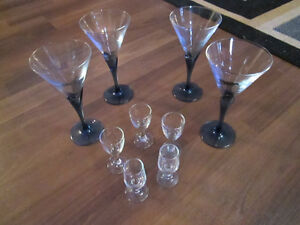 Wines glasses, Avon coffee mugs, trays,Starfrit patty shaper,+++