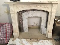 Marble fireplace fire surround mantle hearth