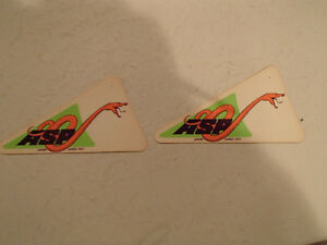 2 Vintage Original 1970's ASP - ARVIN SPEED PAC Sticker / Decal