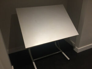 Basic Drafting Table - White - Adjustable