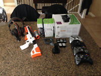 Xbox 360 Black - Full System, Controllers, Games, Headset etc