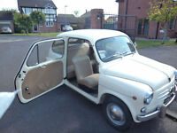 Fiat 600 D 1962 SUICIDE DOORS 6400 MILES ONLY TOTALLY ORIGINAL STUNNING