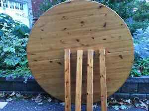 Round Pine Ikea Table