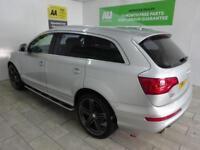 Silver Audi Q7 3.0TD 4X4 Tiptronic Quattro S-Line AUTO ***FROM £91 PER WEEK***