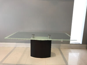 Glass Dining Table and Buffet