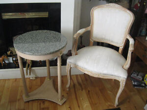 """Antique """"Queen Anne"""" Occasional Table & Chair"""