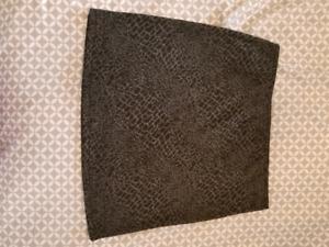 Black & Grey Leopard Print Skirt