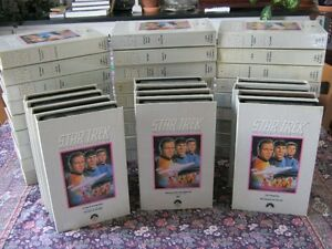 STAR TREK COMPLETE 39 VHS COLLECTOR'S EDITION!!  FREE SHIPPING