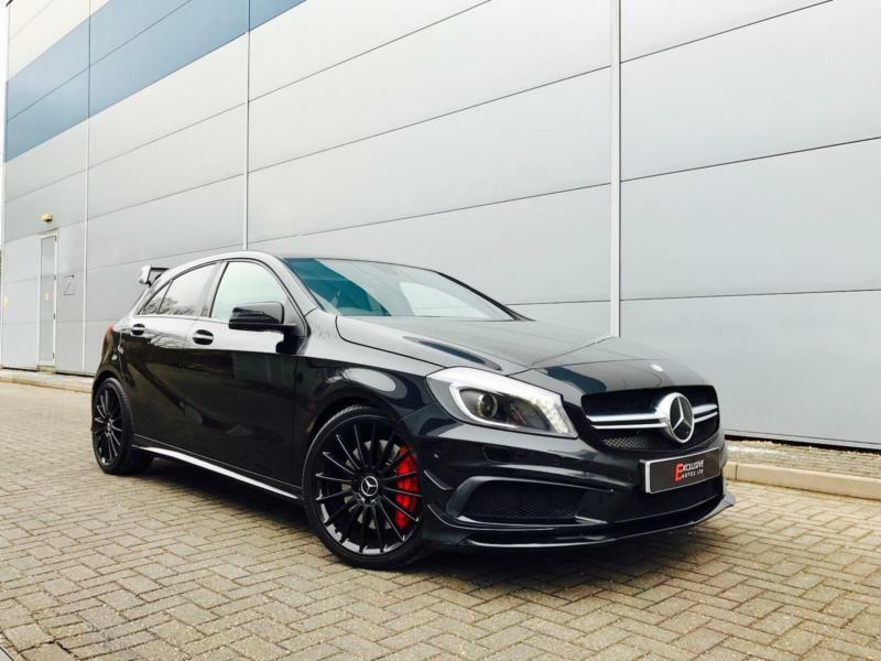 2013 63 reg mercedes benz a45 amg 2 0 4 matic black aero kit pan roof in watford. Black Bedroom Furniture Sets. Home Design Ideas