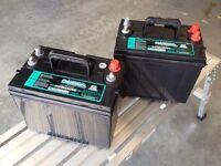 2 brand new unused deep cycle 12 volt marine/RV batteries
