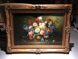 Original Floral Oil Painting w/ Certificate of Authenticity