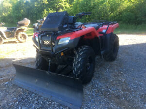 2015 HONDA 420 FOURTRAX (EPS)..WITH PLOW (WE FINANCE)