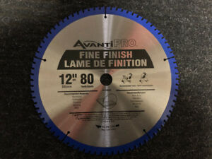 """New Unused 12"""" x 80 Tooth Miter Saw Blade"""