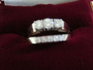 Ladies Trinity Ring and 5 In-Line Diamond Ring
