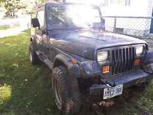 1990 Jeep YJ for parts