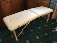 White Faux Leather Beauty Massage Table Used