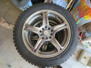 205/55R16 94T XL Winter Tires on Alloy Rims