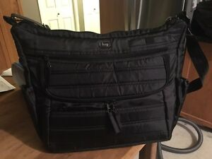 Black LUG Hula Hoop Carry All Messenger bag