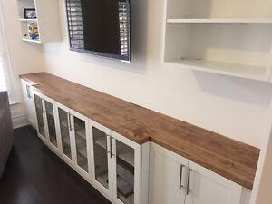 Custom Reclaimed & Live Edge Wood Countertops