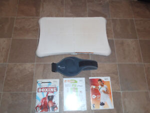 Wii Fit Board/games and Ea Active belt/game
