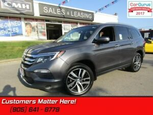 2016 Honda Pilot Touring  AWD, NAVI, PANORAMIC ROOF, DVD, LEATHE