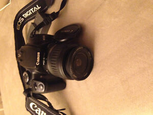 Canon Rebel XTI, EOS with lens!