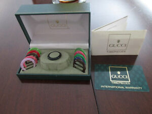 Vintage Gucci watch box, 11 bezels and expired warranty card